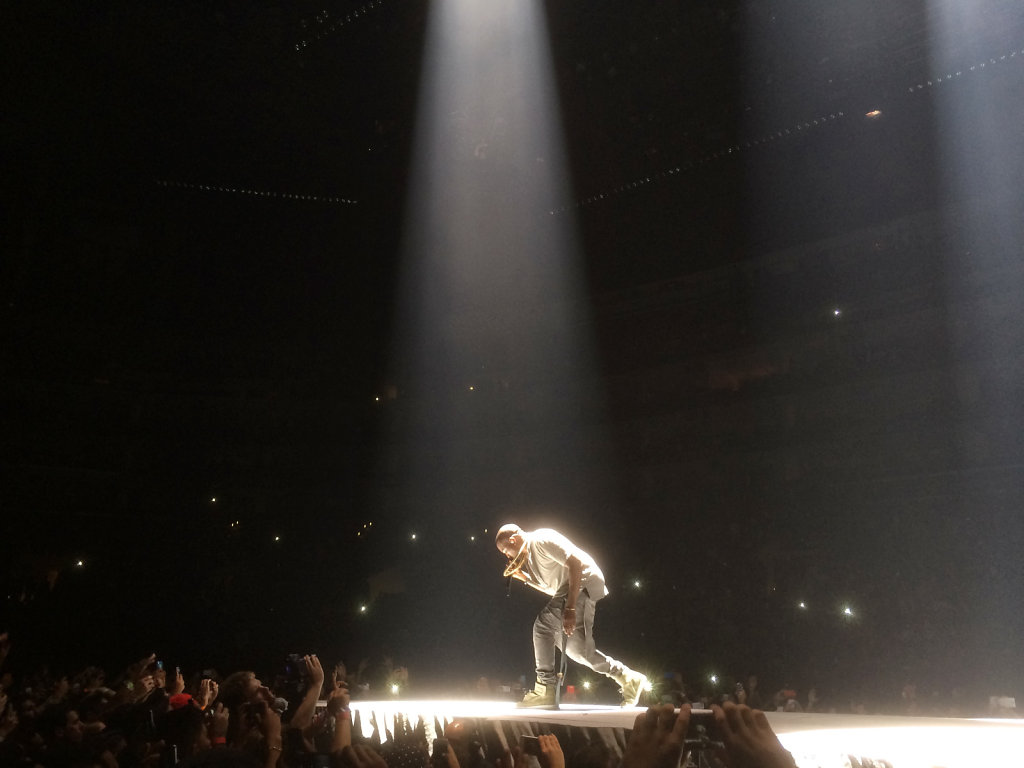 Kanye at Staples Center