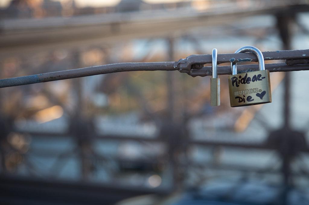 Bike Lock on the Brooklyn Bridge