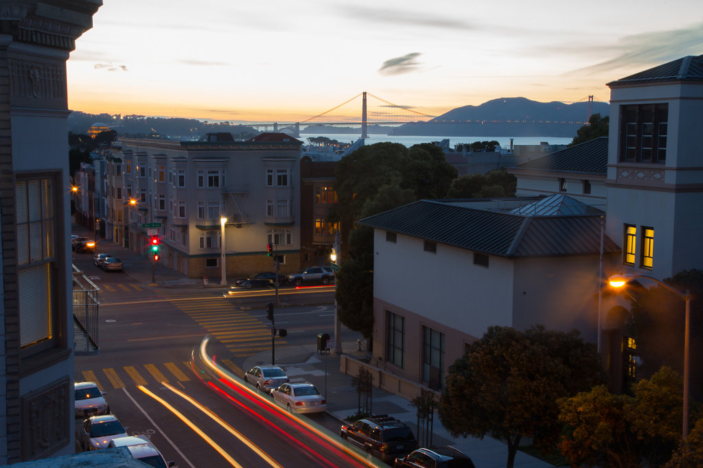 Car Trails and Golden Gate Bridge