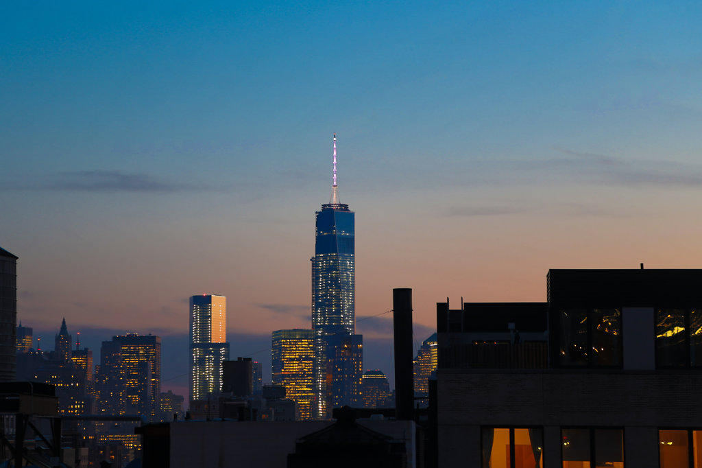 1 WTC Lit at Sunset