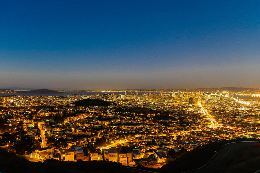San Francisco at Sunset from Twin Peaks