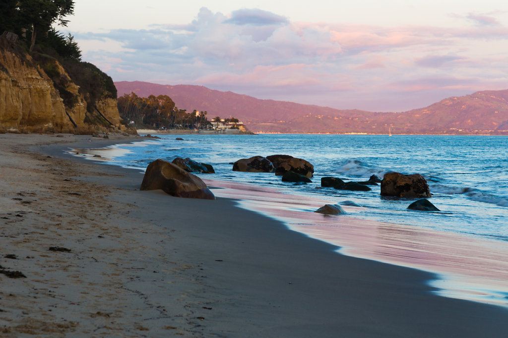 Sunset on the Beach in East Beach - Santa Barbara