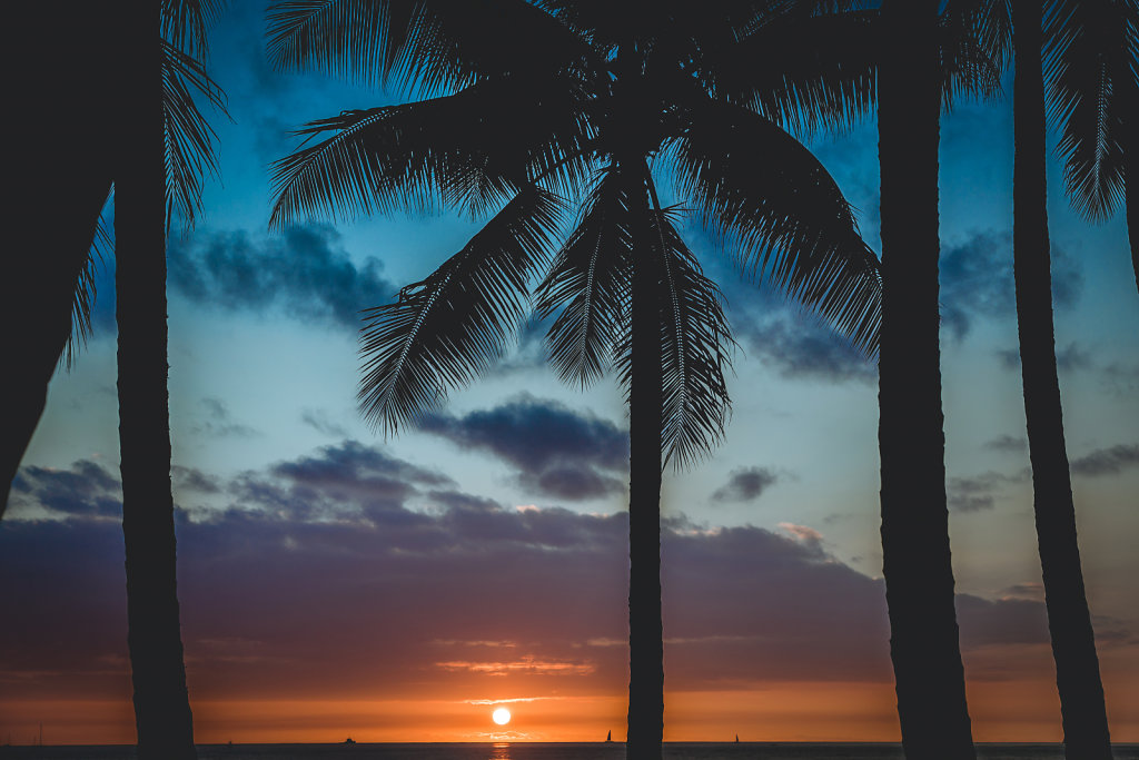 Sunset in Honolulu