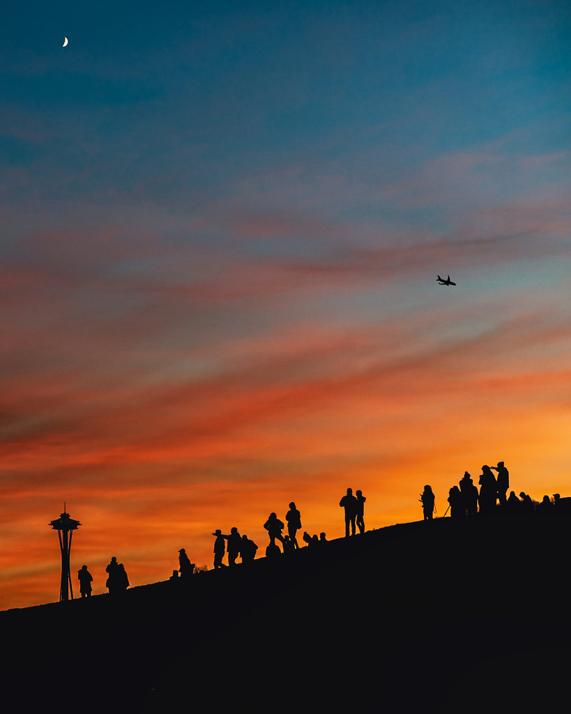 Sunset at Gaslight Park in Seattle